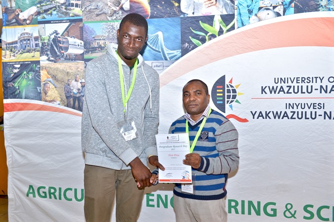 Prizes - Chinedu Izuchukwu won best PhD poster - MSCS