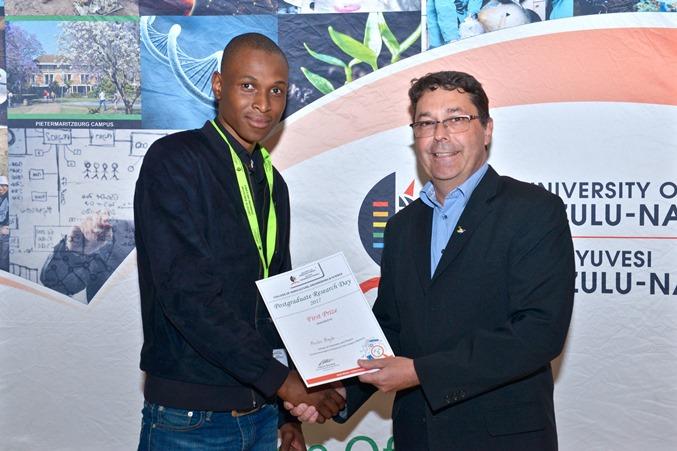 Prizes - Mxolisi Majola won best MSc oral presentation - Chemistry & Physics