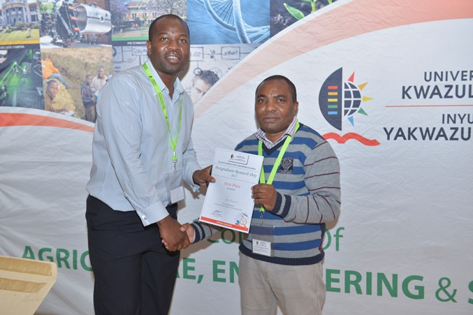 Prizes - Obert Mupomoki won best MSc poster - Engineering