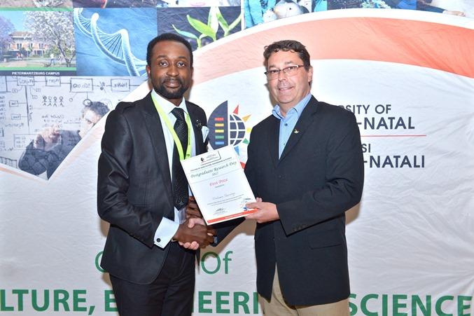 Prizes - Olaoluwa Olarewaju won best PhD oral presentation - SAEES